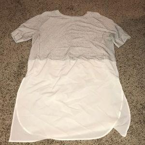 Zara high low shirt